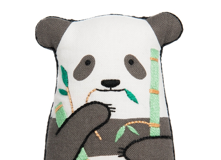 Panda Embroidery Kit | Kiriki Press