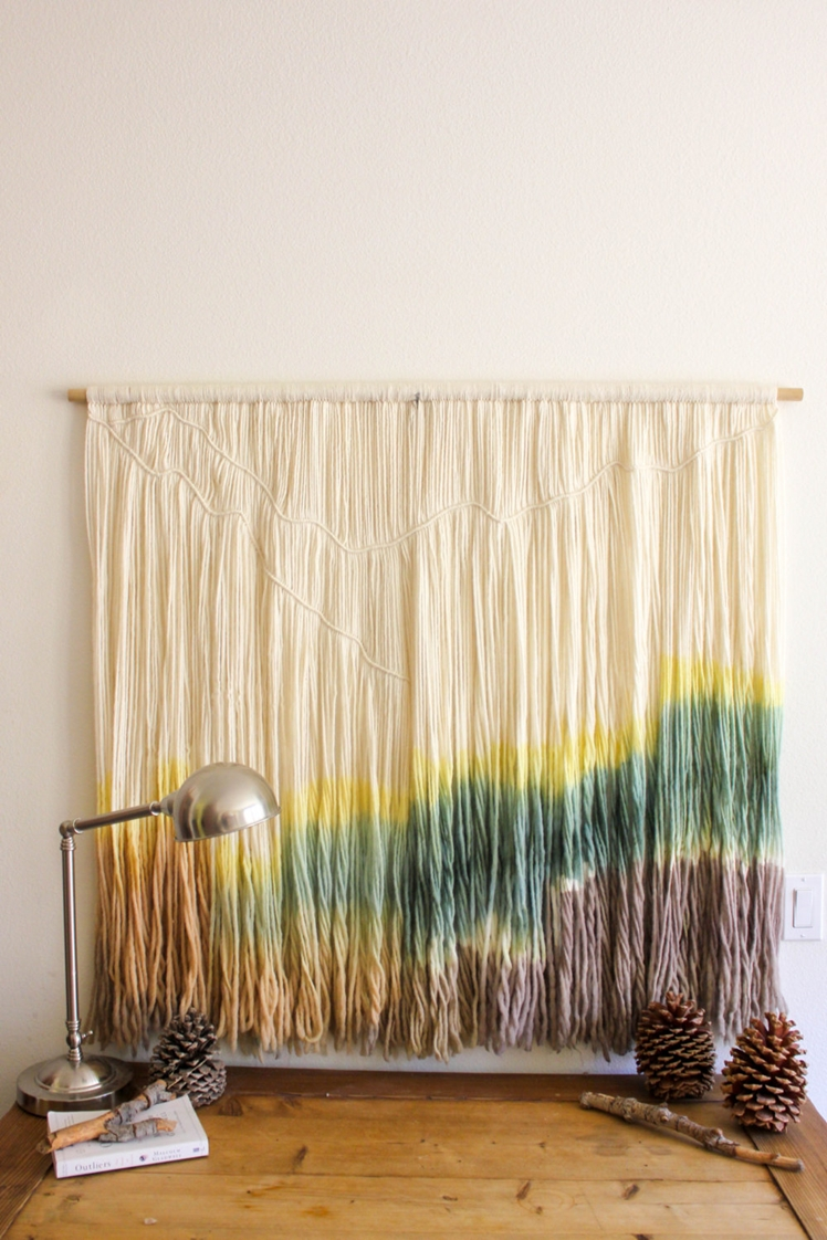 Dip Dyed Macrame Tapestry | Knot and Dyed