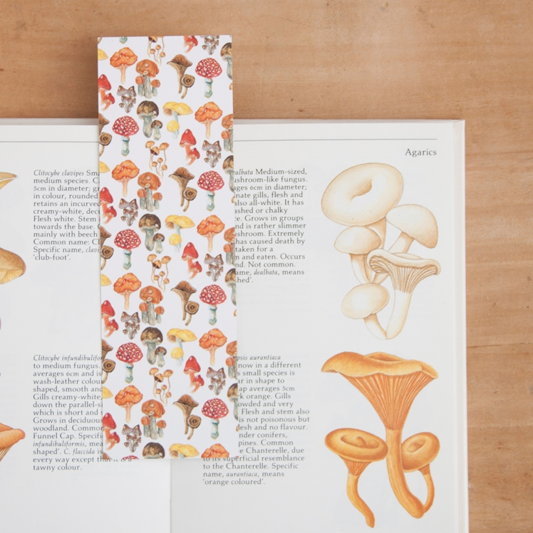 Mushrooms & Houseplants Illustrated Reversible Bookmark | Little Paisley Designs