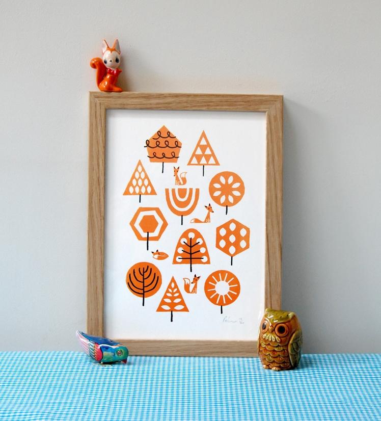 Foxy Forest Print | Peskimo