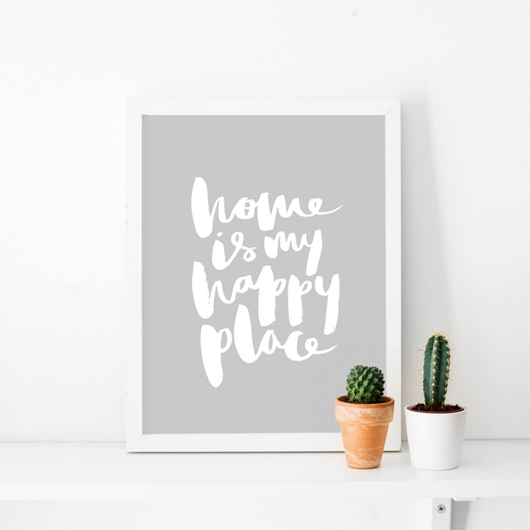 Brush Lettered Art Print | The Lovely Drawer