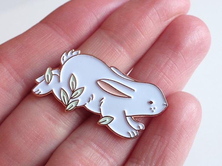 Hopping Bunny Enamel Pin | Nina Stajner
