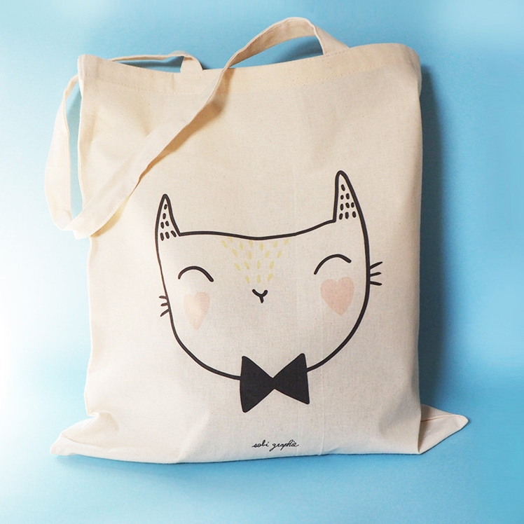 "Tote Bag ""Cat Bow Tie"" 