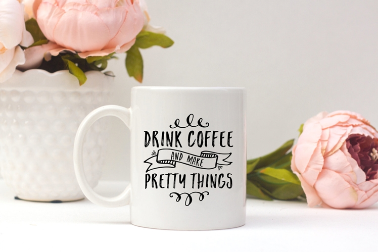 Drink Coffee and Make Pretty Things Ceramic Mug | Parcel Island