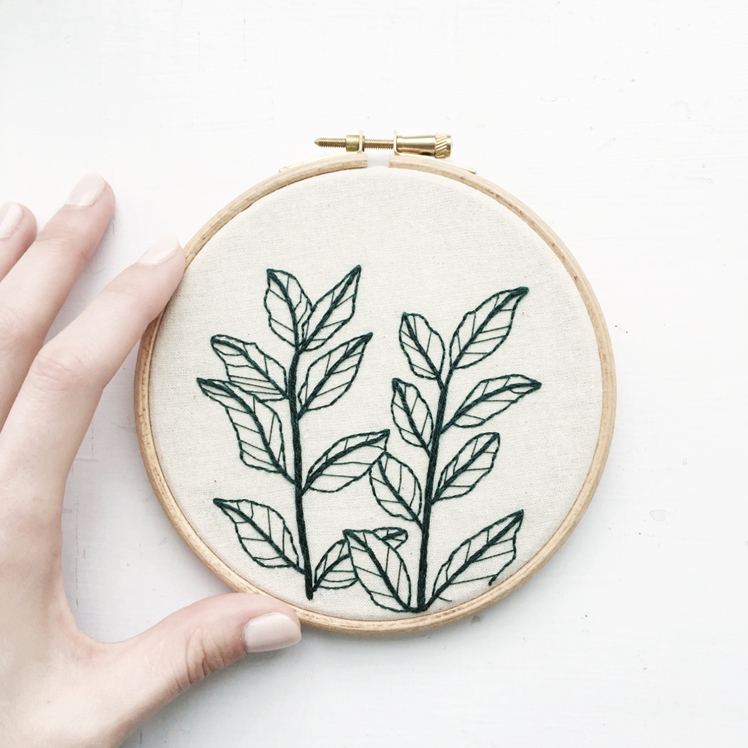 Botanical Plant Hand Embroidery   Tusk and Twine