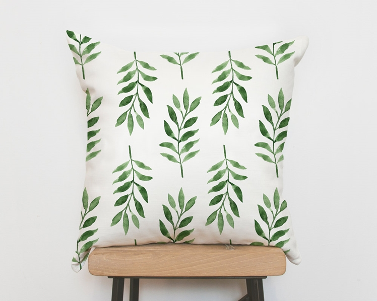 Tropical Green Palm Pillow Cover | Emodi