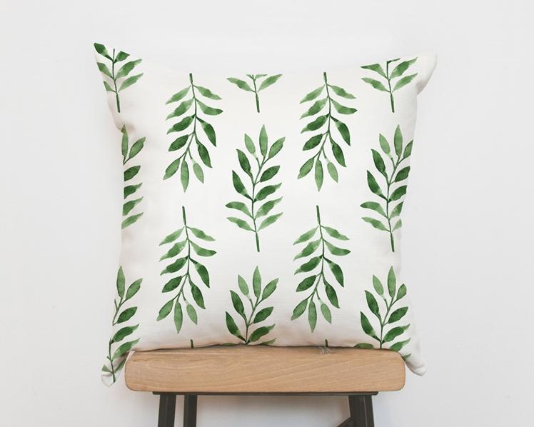 Tropical Green Palm Pillow Cover | Emodi