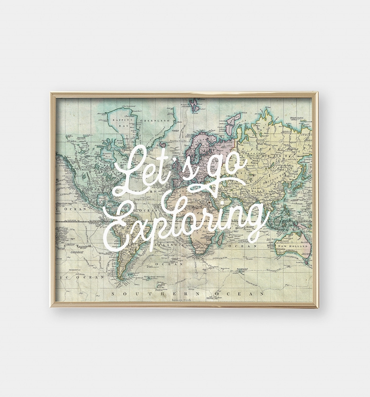 Let's Go Exploring Art Print | The Print Annex