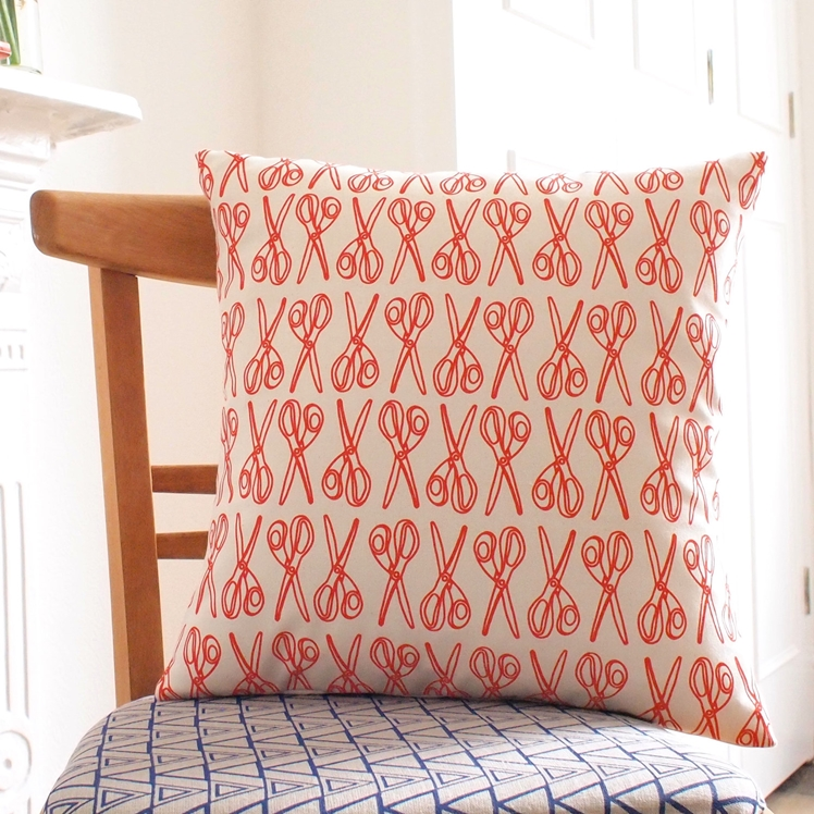 Scissor Print Cushion | Megan Alice England