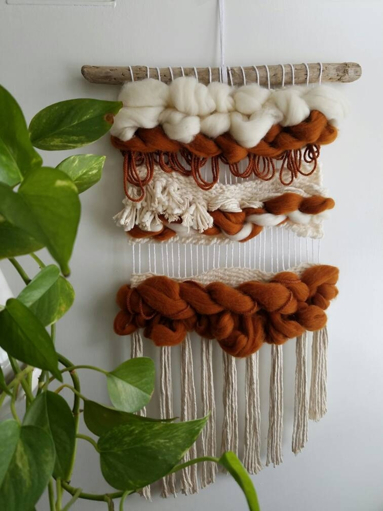 "Woven Wall Hanging ""Burnt Out"" 