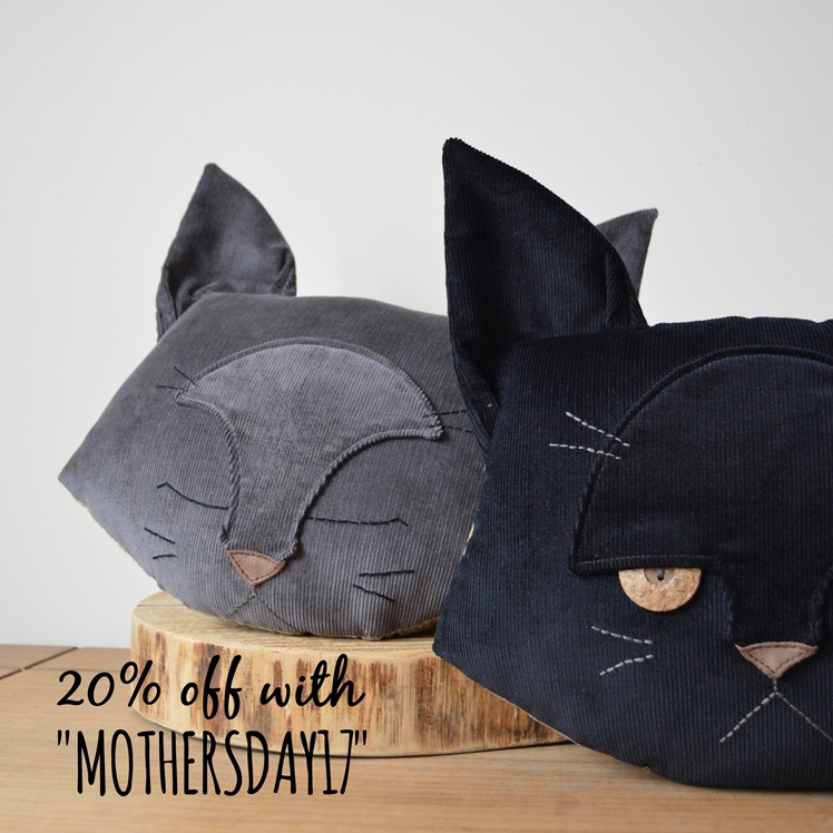 Cat Cushion/ Mother's Day Gift Ideas - Midgins' Blog