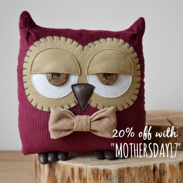 Owl Cushion/ Mother's Day Gifts - Midgins' Blog