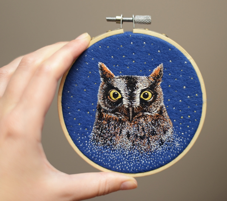 Embroidery Art Owl | Conieco