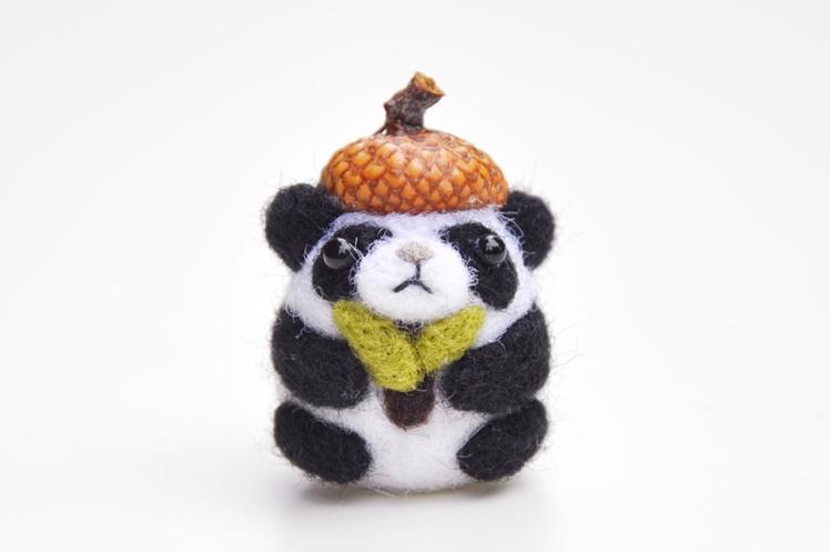 Needle Felted Panda | Nori Studio