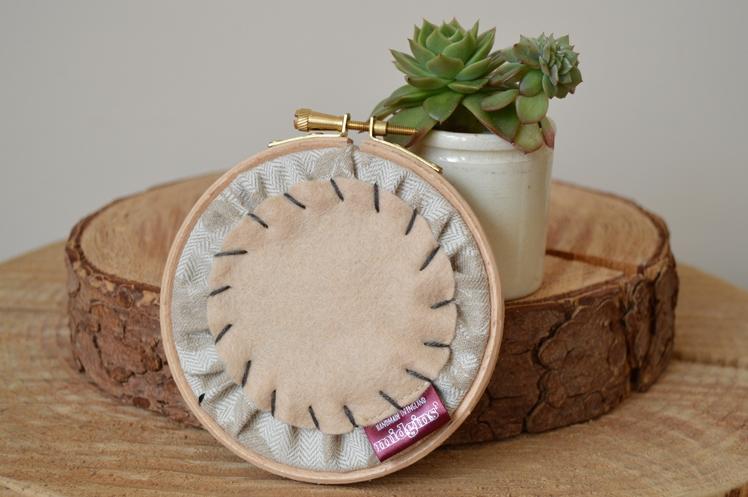 Bumble Bee & Leaves Embroidery Hoop | Midgins'
