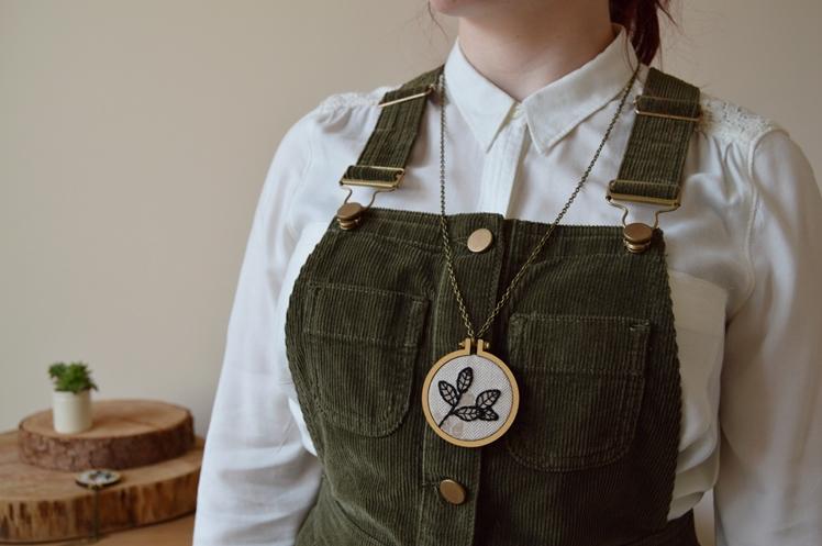 Botanical Embroidery Hoop Necklace | Midgins'