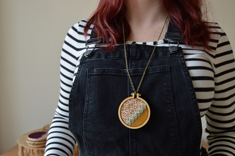 Embroidered Fabric Necklaces   Midgins'