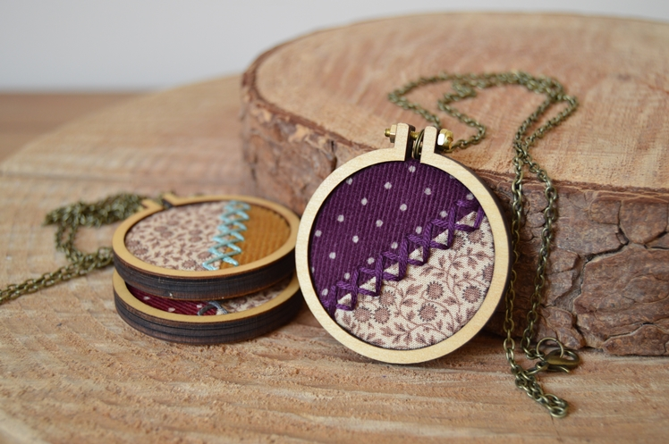 Embroidered Fabric Necklaces | Midgins'