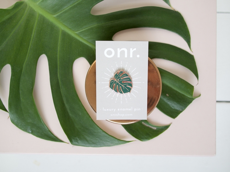 Monstera Leaf Enamel Pin | Oh No Rachio
