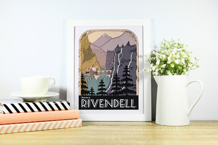 Welcome to Rivendell Poster | CoconuTacha