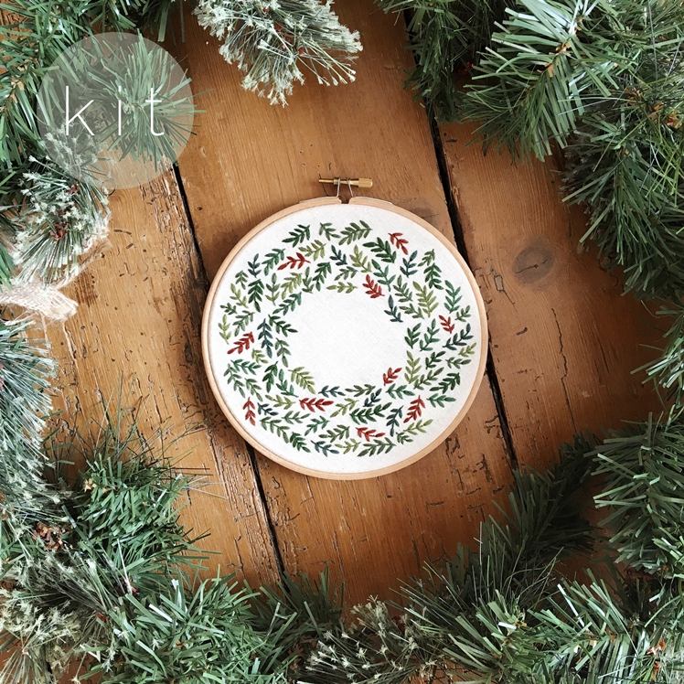 Christmas Wreath Embroidery Kit | Tusk and Twine