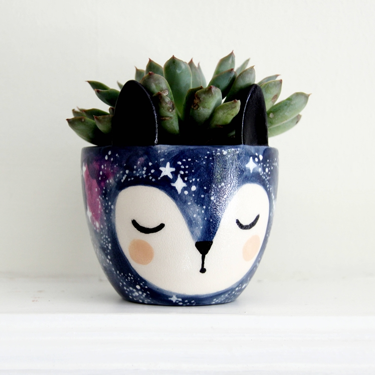 Galaxy Fox Planter | Krafty K Design