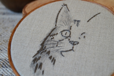 Maine Coon Embroidery Hoop | Midgins'