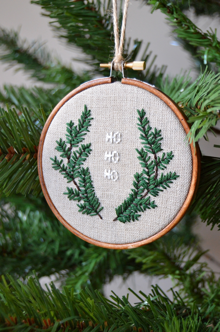 Christmas Embroidery Tree Decoration | Midgins'
