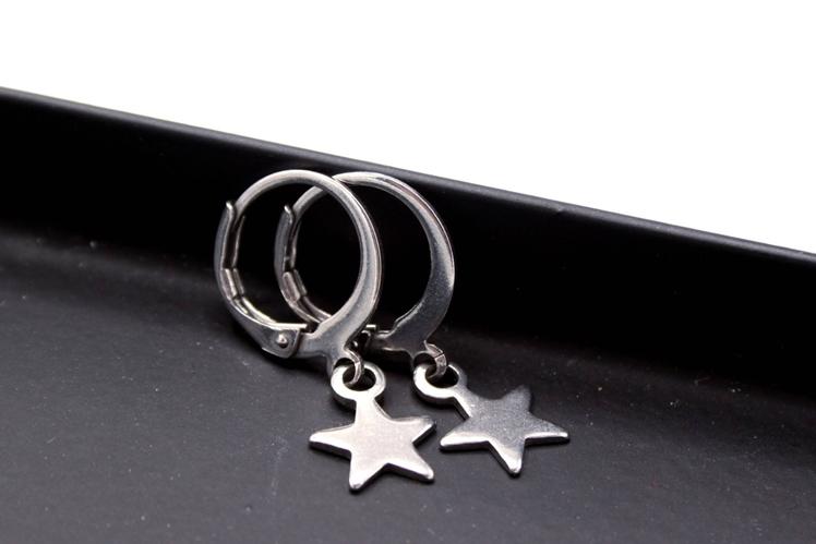 Star Hoop Earrings | Uniekje